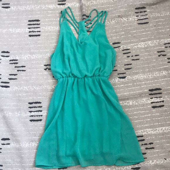 Poetry Dresses & Skirts - Francesca's Teal Sundress
